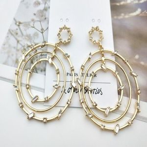 & Other Stories Crystals Hooped Earrings
